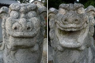 比蘇天神社の狛犬