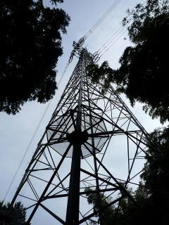 岡町分岐線 第十号 チモヌ074 平成四年六月建設 中部電力株式会社