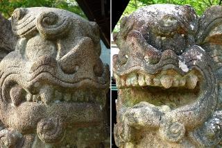 藤島神社の狛犬
