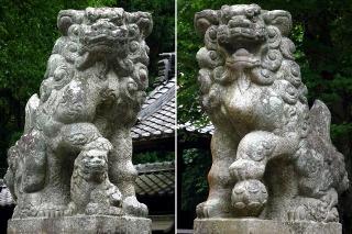大草神社の狛犬