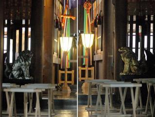 金山神社の金銀狛犬