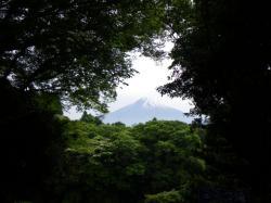 白糸の滝から見た富士山