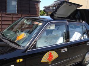 寿タクシー 天井が開きます