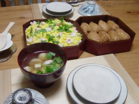 お寿司&ハモすり身の吸い物