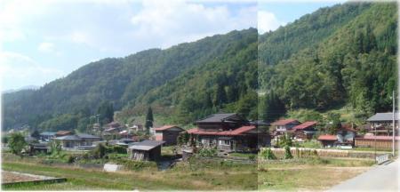 昔暮らしていた山間の小さな村・戸市