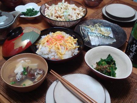 久しぶりにちらし寿司を。