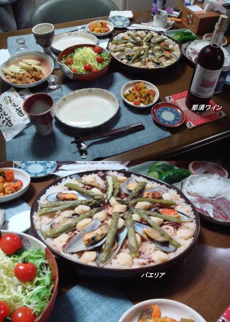 よしべぇさん手作りの夕食♪