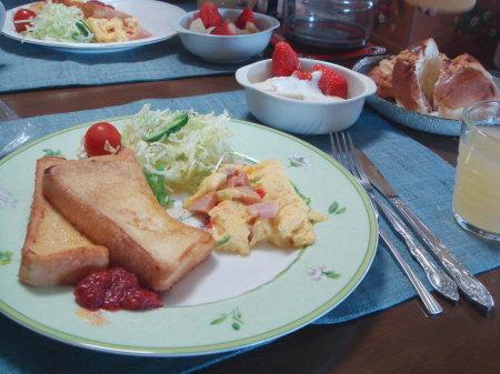 朝食です♪