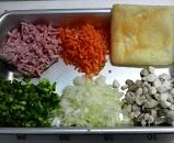 ひき肉の茶巾煮1