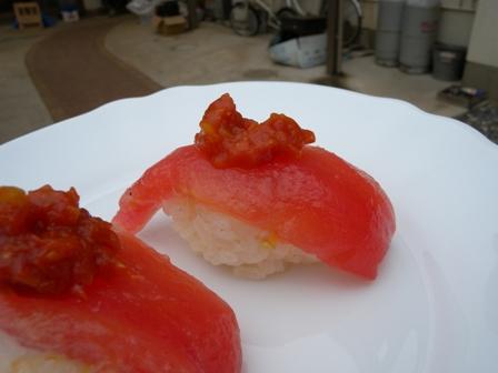 2011年6月7日トマトのお寿司アップ