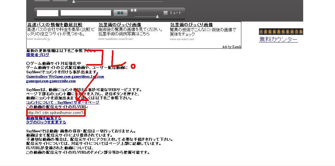 赤線の部分のURLにアクセス