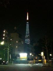 店内から見えるタワー