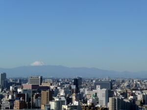 ホテルから富士山