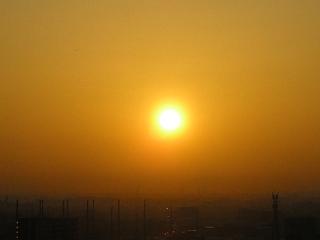朝焼け、静かに空を染めて~♪