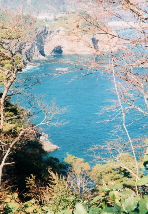 潮吹き岩から