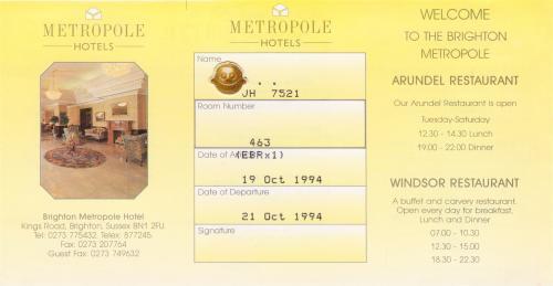 メトロポールホテル