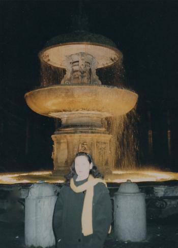 サンピエトロ寺広場の噴水