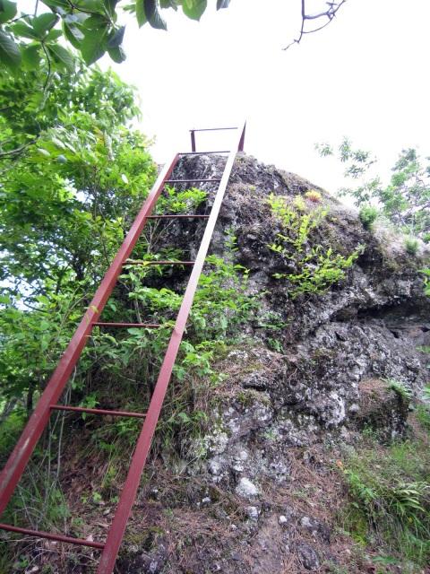 1番目の鉄梯子