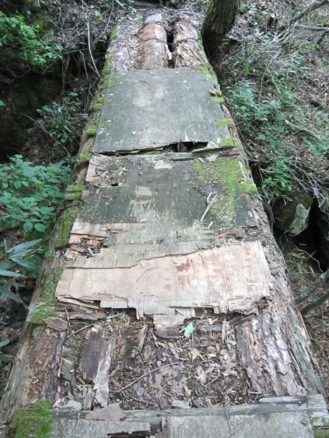 壊れかけた橋
