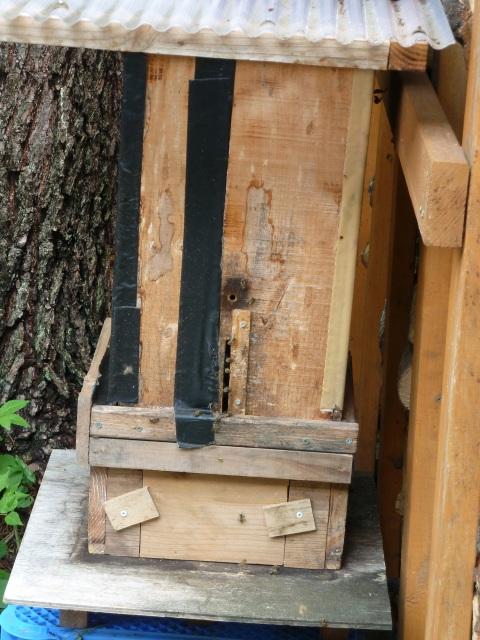継箱を取付けた巣箱