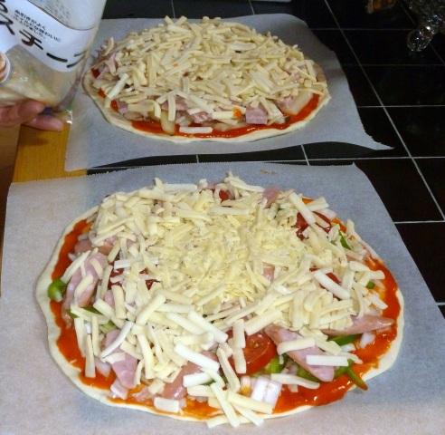 ピザの準備