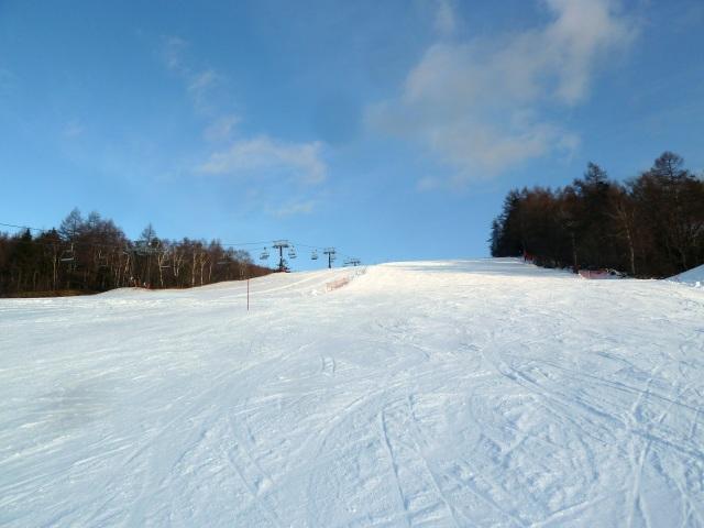 平日のスキー場