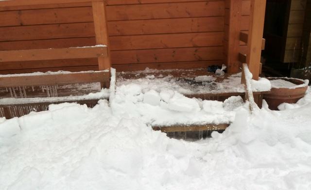 雪トンボ使用後