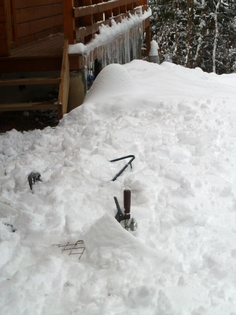 雪の中の自転車