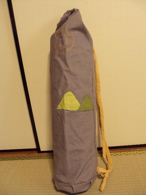 ヨガマットバッグ綿麻キャンバス tree2