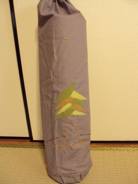 ヨガマットバッグ 綿麻キャンバス tree 1