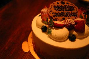 サプライズケーキ