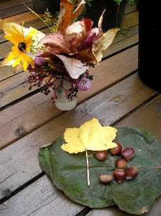 秋色のコサージュ2