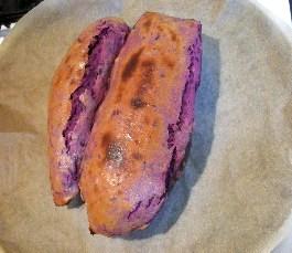 紫いものスーとポテト