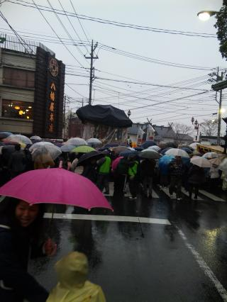 雨の夜祭り