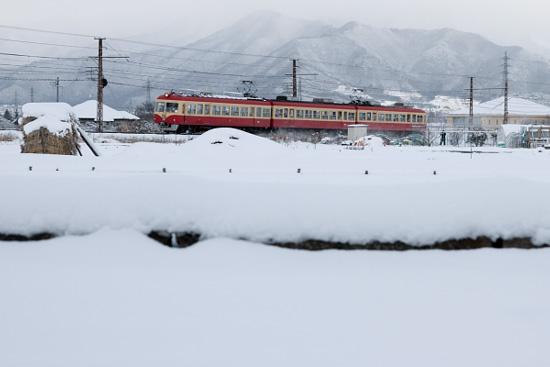 2012/1/29 長野電鉄長野線 朝陽~附属中学前