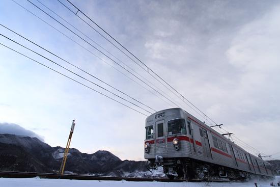 2012/1/30 長野電鉄屋代線 大室~金井山