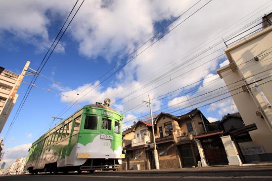 2012/1/7 阪堺電軌上町線 姫松~帝塚山三丁目