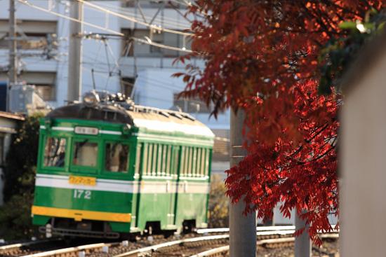2011/12/23 阪堺電軌上町線 帝塚山四丁目~神ノ木