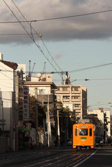 2011/12/23 阪堺電軌上町線 帝塚山三丁目~帝塚山四丁目