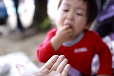 頭上&お菓子→GO3