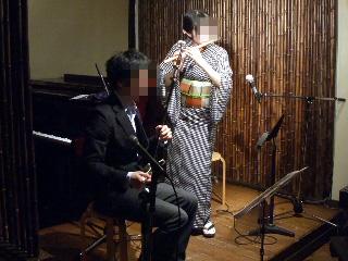 二胡と神楽笛