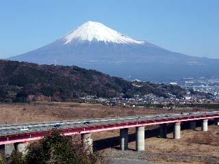 晴天と富士山