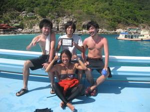 タイ・タオ島・ダイビング・体験ダイビング・ボート