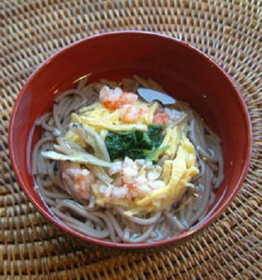 Soba noodle.