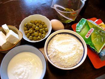 オリーブとフェタチーズのマフィン