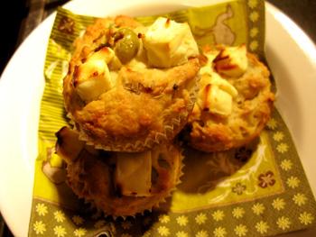 オリーブとフェタチーズのマフィン 2