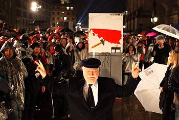 ベルリンの壁崩壊式典
