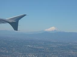 空から富士山