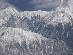 上空から山々