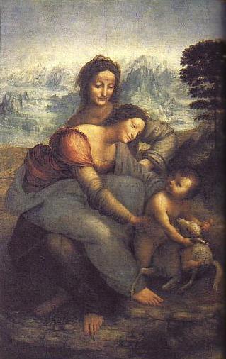ダヴィンチ「聖アンナと聖母子」
